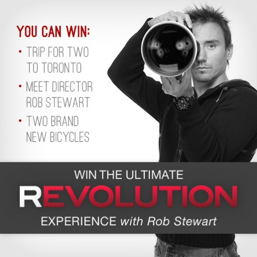 Join the REVOLUTION and win a meet/greet with Rob Stewart and 2 new bikes!