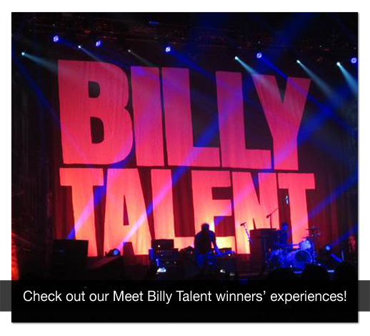 We sent a 10 Canadian students with 3 friends each to meet Billy Talent at 10 shows across Canada!