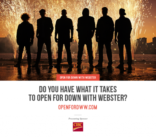 Do you have what it takes to open for Down With Webster?