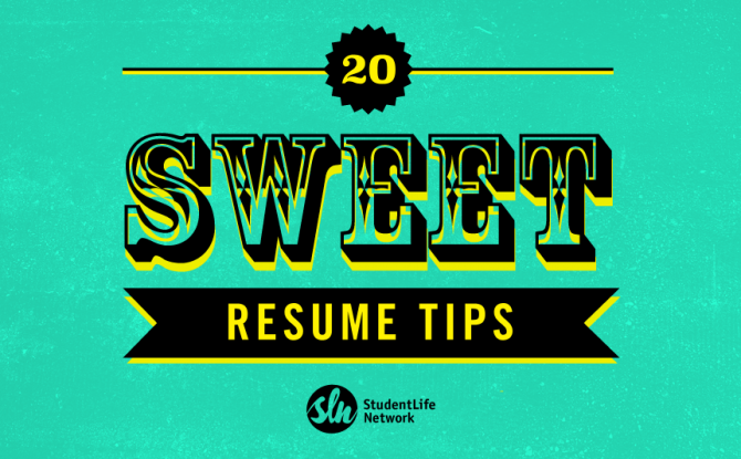 20 Sweet Resume Tips By SLNers (for SLNers)