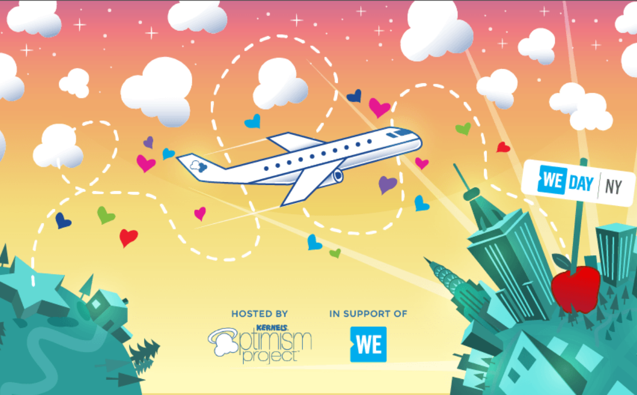 Your Good Vibes Could Send You & a Friend to WE Day in New York City