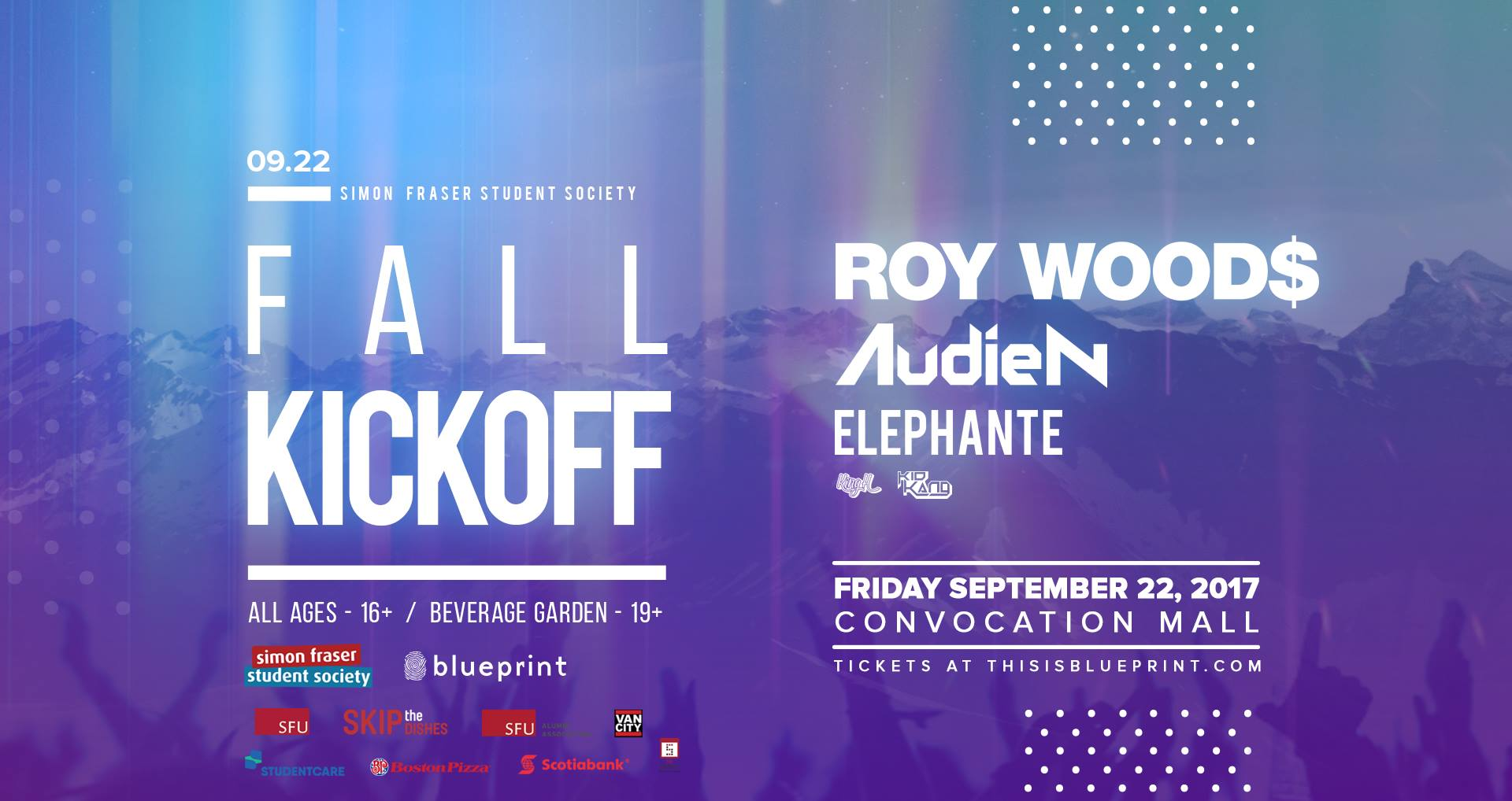 All the best back to school canadian campus events a concert featuring roy woods audien and elephante tickets can be purchased online or at the sfss general office at the burnaby campus the event is 16 malvernweather Gallery