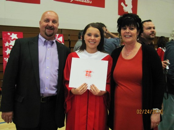 Maggie McGraw and parents