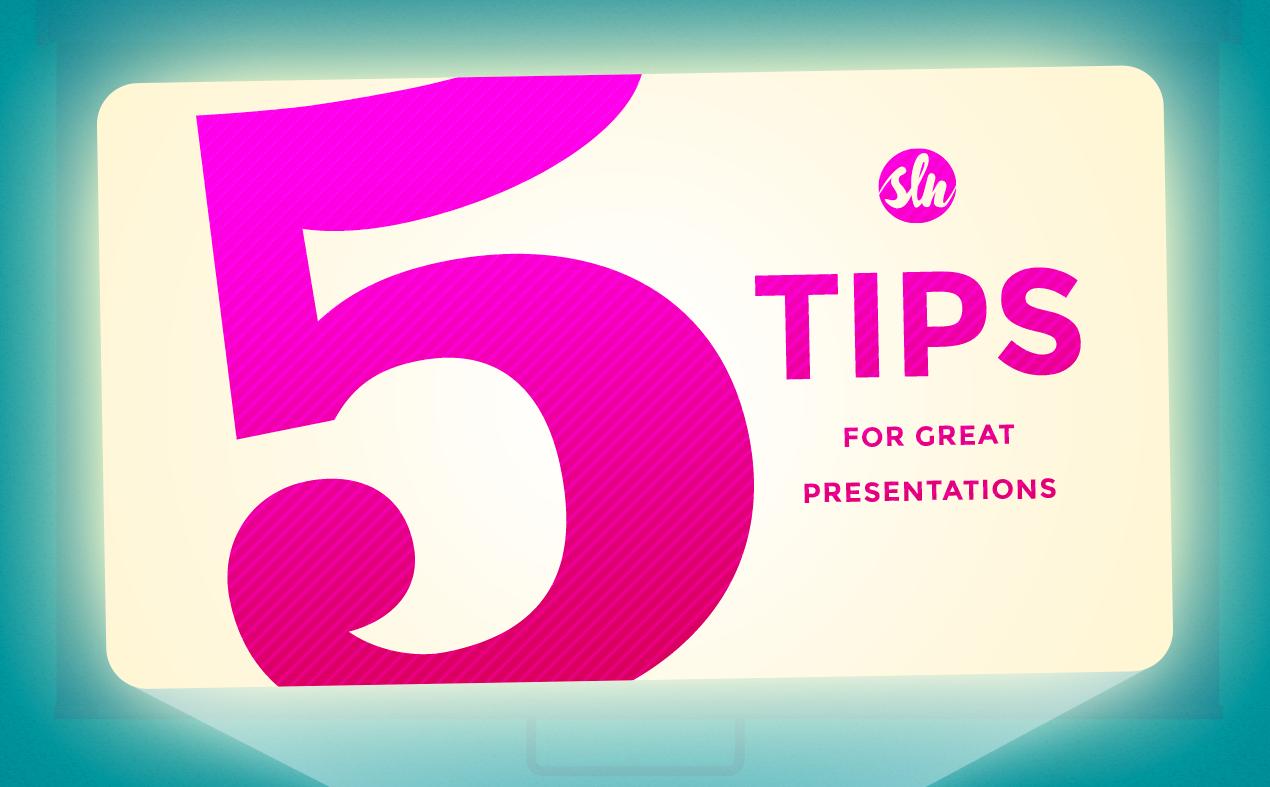5 Presentation Tips Image
