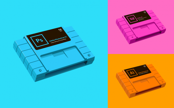 Adobe X Nintendo Illustration Image