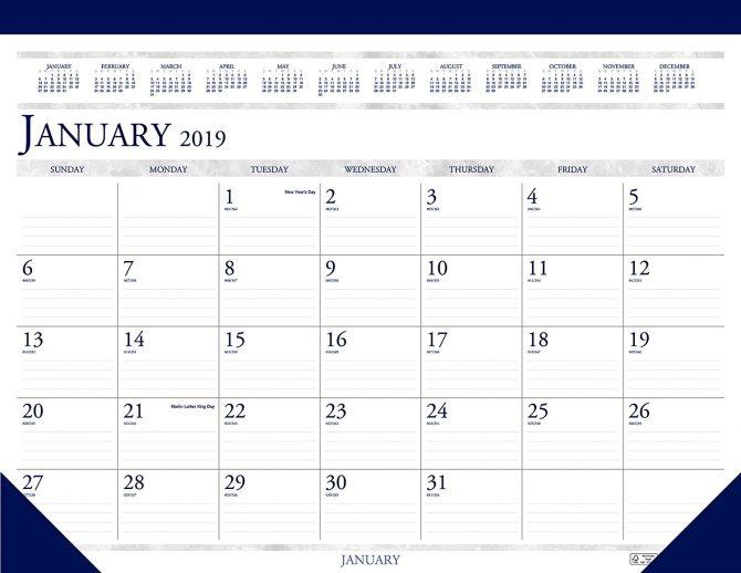Tearaway Desk Calendar