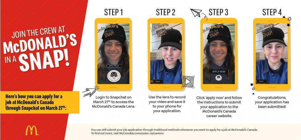 Oh Snap! McDonald's Is Hiring…via Snapchat!