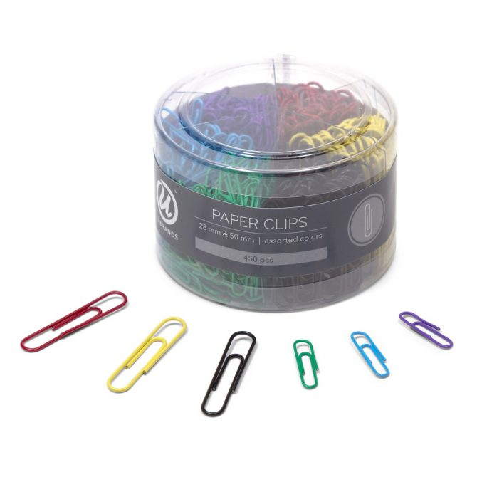 colourful paperclips