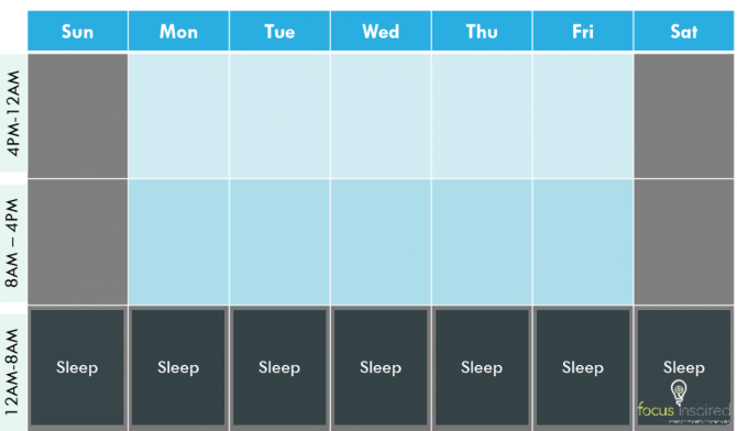 sleep schedule time management