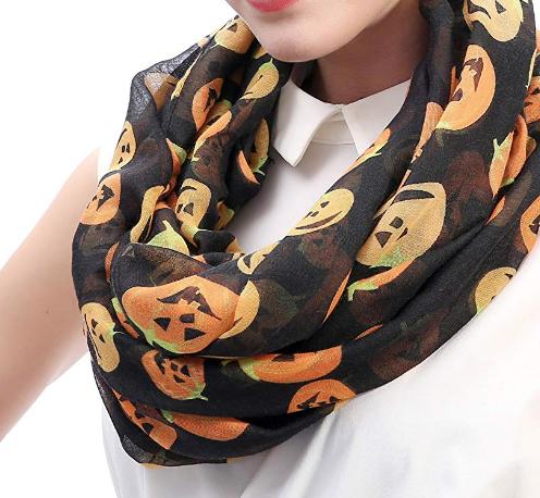 pumpkin scarf