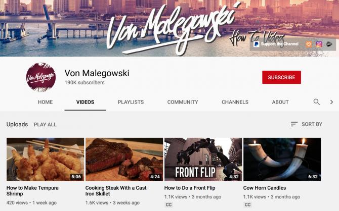 Von Malegowski youtube