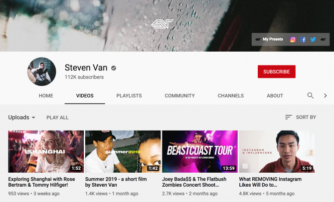 Steven Van youtube