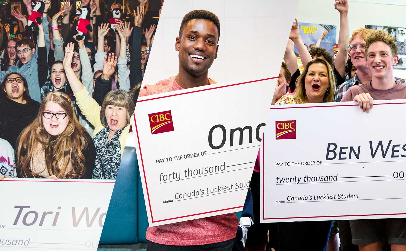 Canada's Luckiest Student winners
