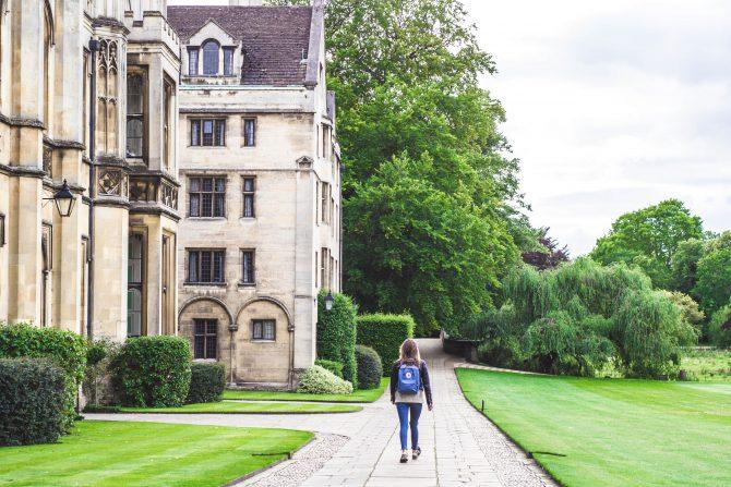 post-secondary school campus tour