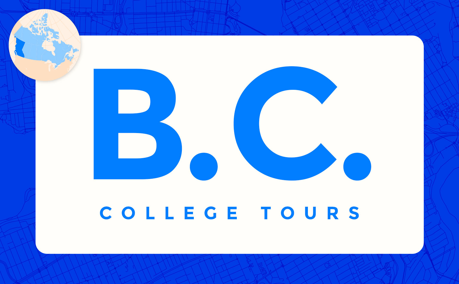 virtual campus university tours in British Columbia