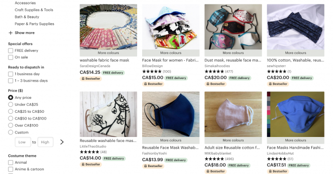 how to make a non-medical mask etsy