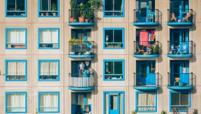 How to physical distancing in an apartment building